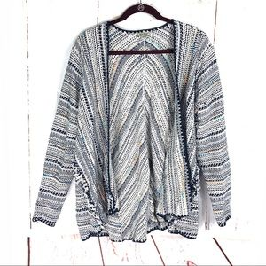 Lucky Brand Multi Colored Pottery Cardigan